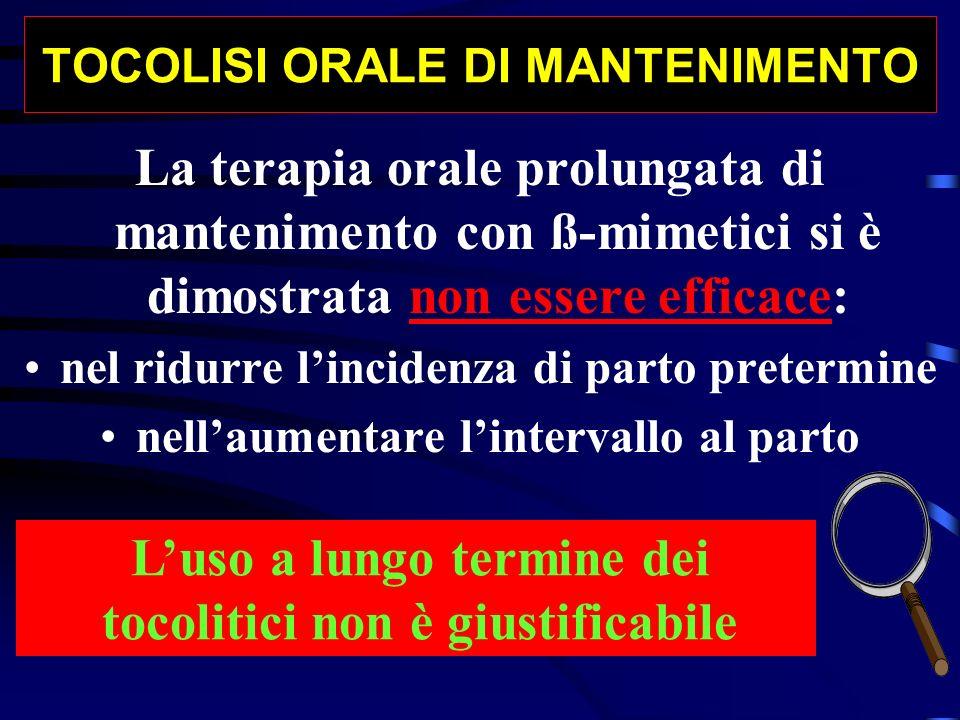 TOCOLISI ORALE DI MANTENIMENTO
