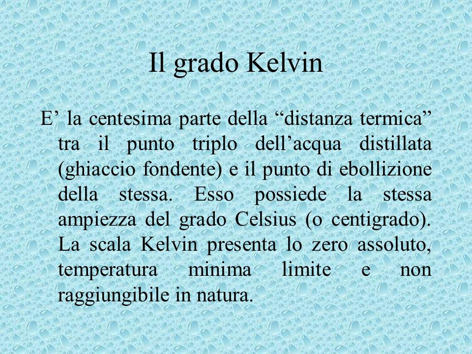Il grado Kelvin