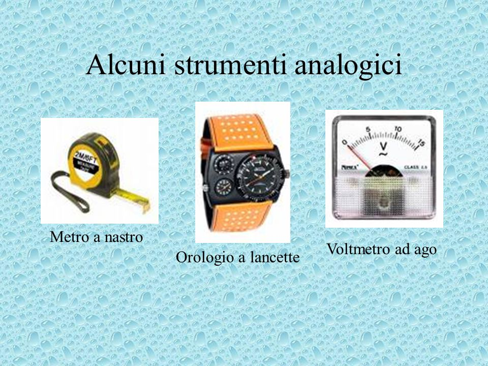 Alcuni strumenti analogici