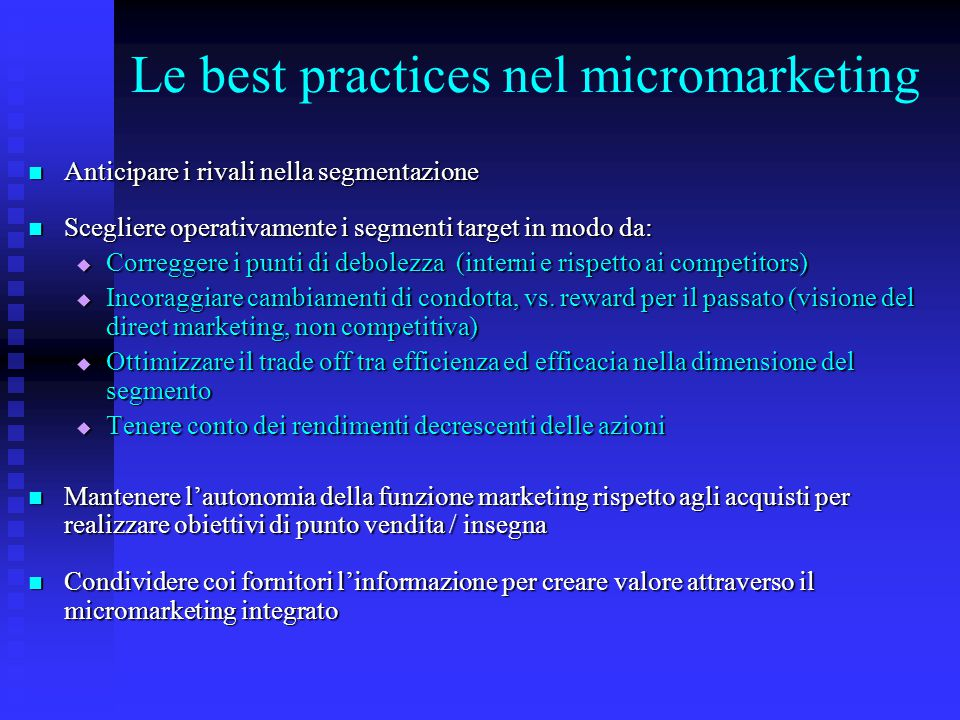 Le best practices nel micromarketing