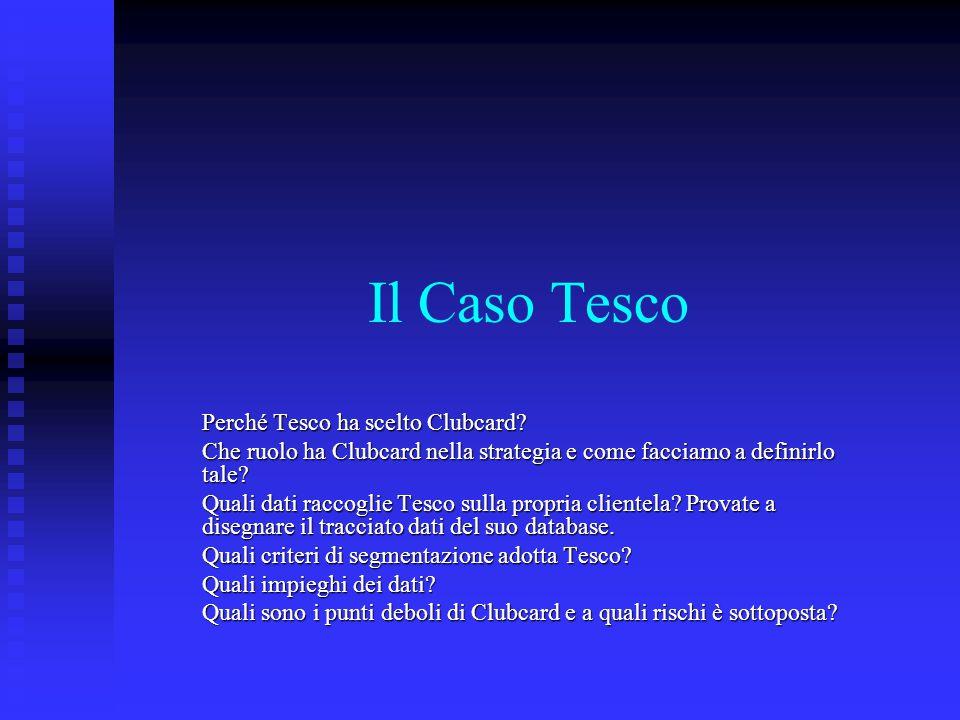 Il Caso Tesco Perché Tesco ha scelto Clubcard