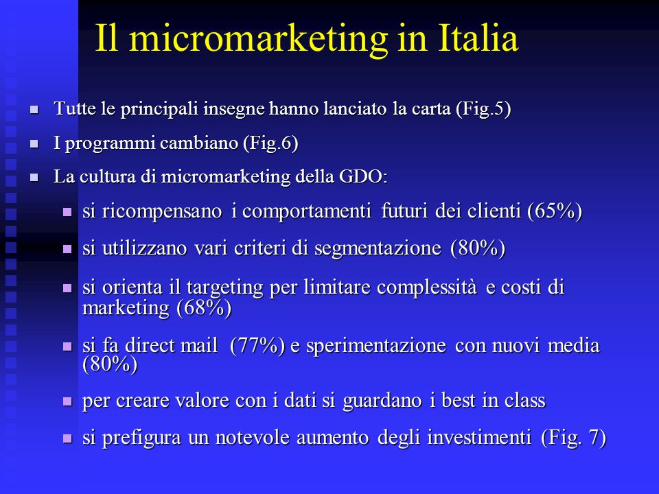 Il micromarketing in Italia