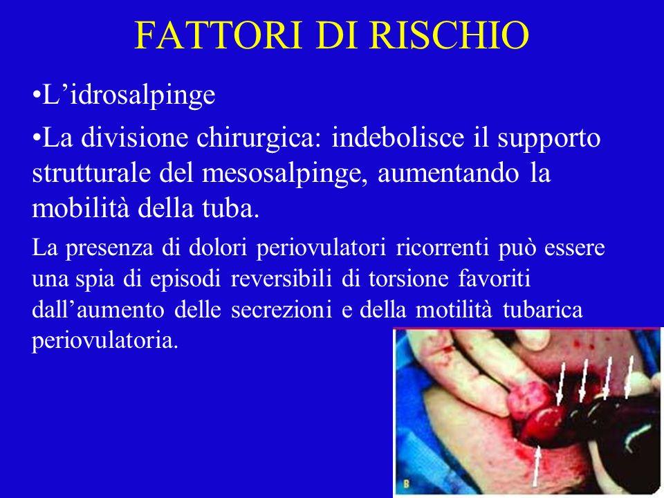 FATTORI DI RISCHIO L'idrosalpinge