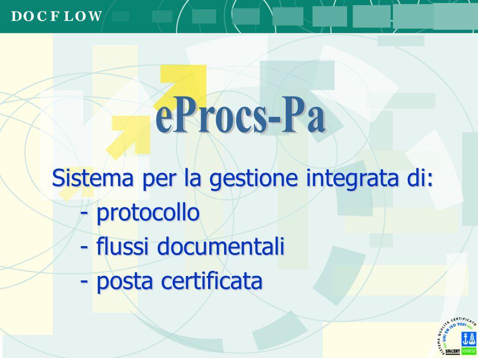 Sistema per la gestione integrata di: