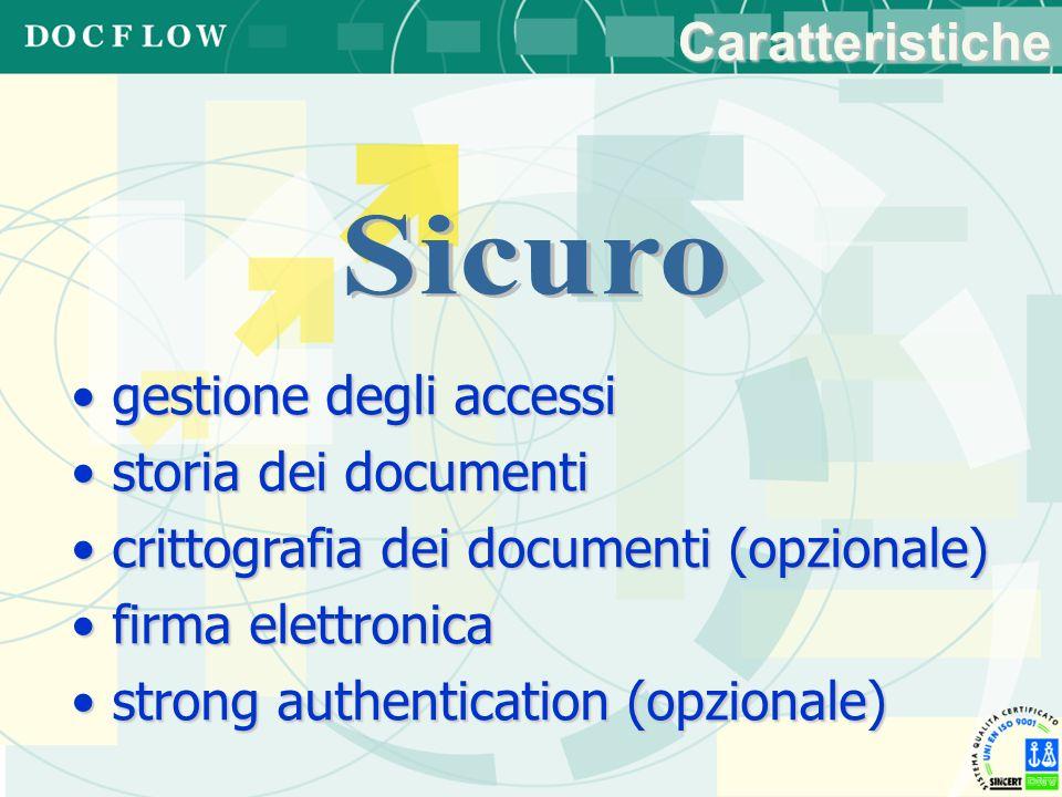 Sicuro Caratteristiche gestione degli accessi storia dei documenti