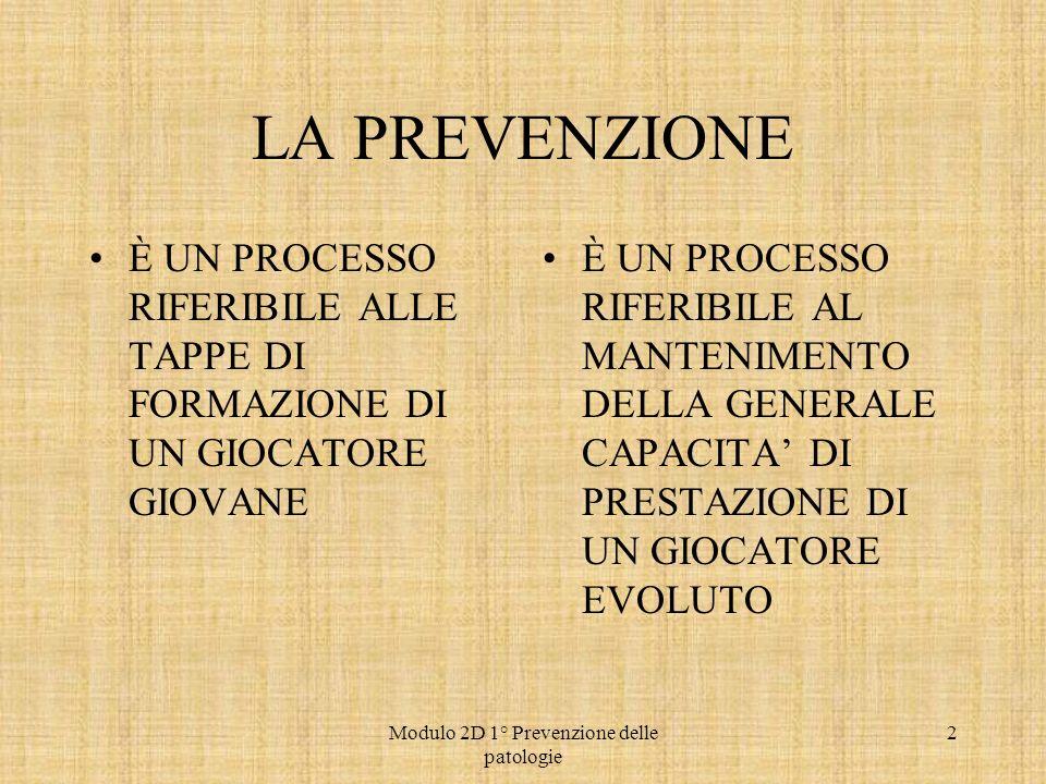 Modulo 2D 1° Prevenzione delle patologie