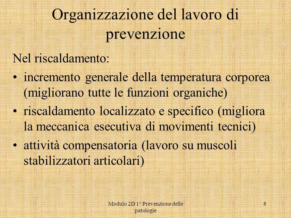 Organizzazione del lavoro di prevenzione
