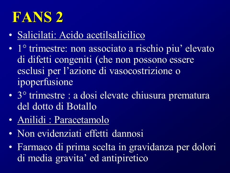 FANS 2 Salicilati: Acido acetilsalicilico