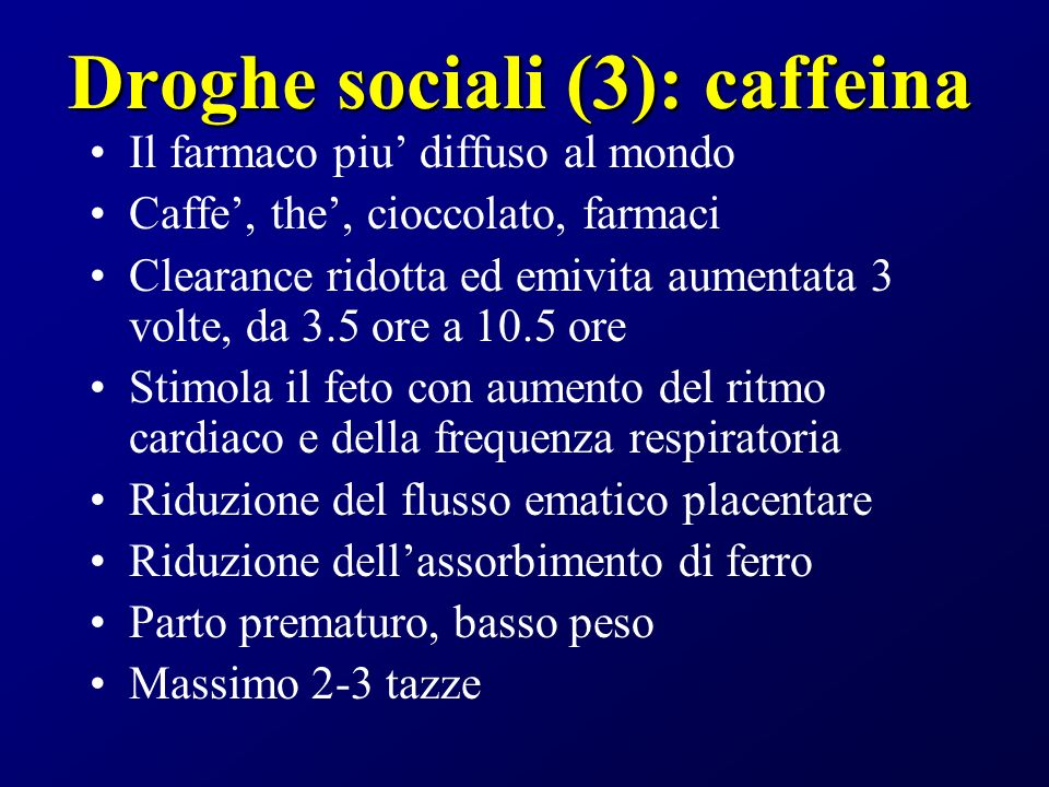 Droghe sociali (3): caffeina