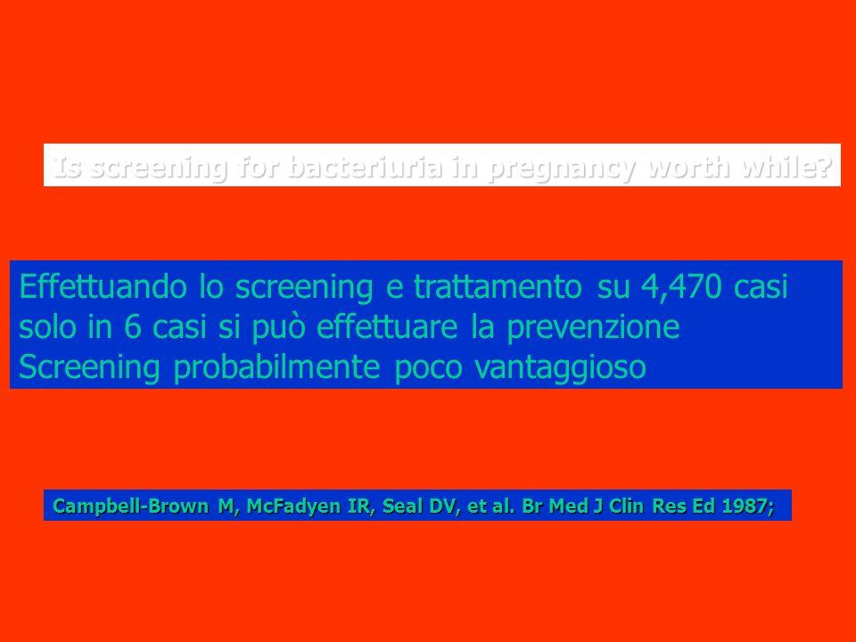 Effettuando lo screening e trattamento su 4,470 casi