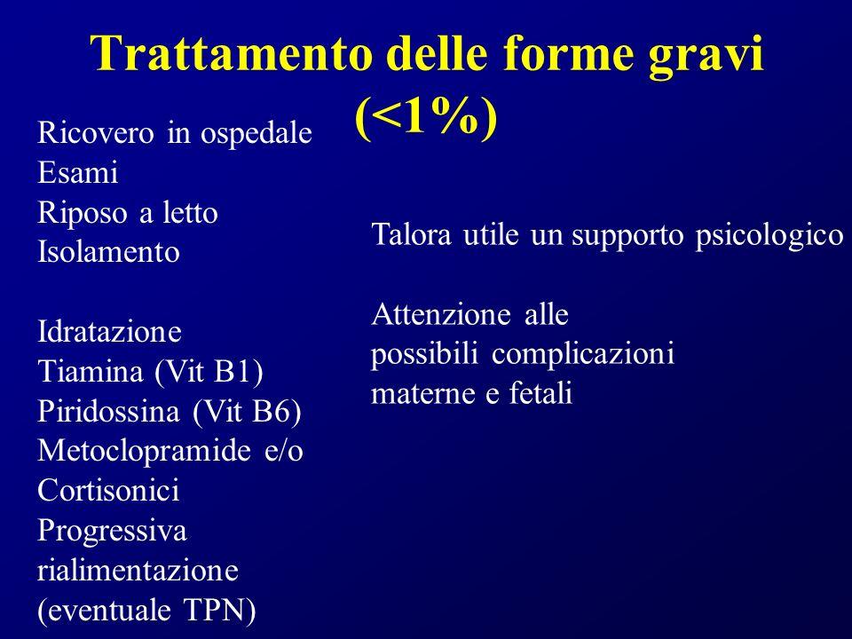 Trattamento delle forme gravi (<1%)
