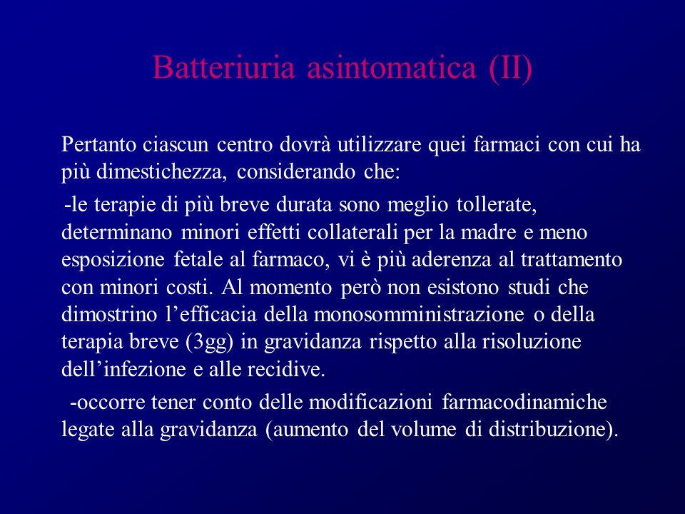 Batteriuria asintomatica (II)