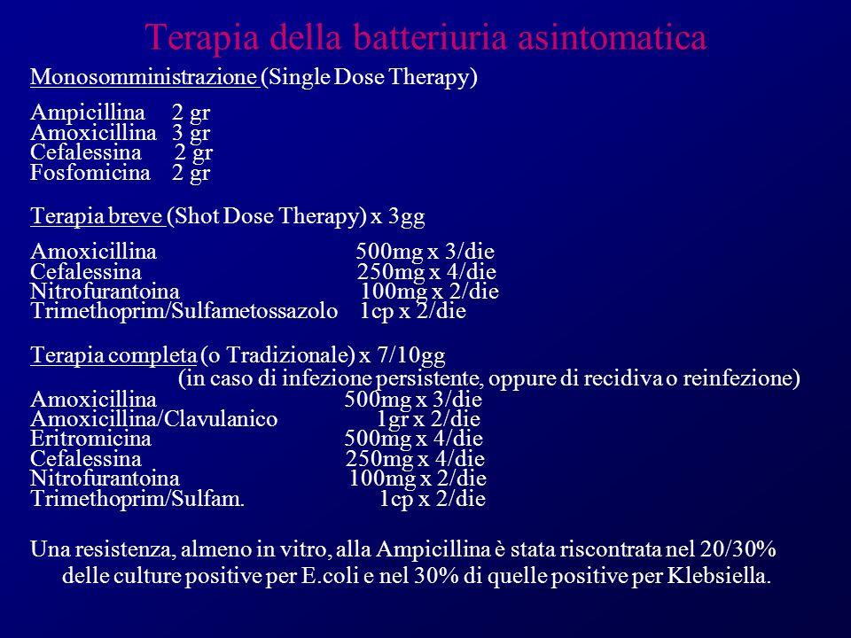 Terapia della batteriuria asintomatica