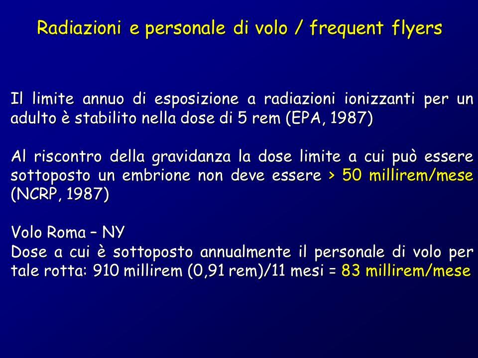 Radiazioni e personale di volo / frequent flyers
