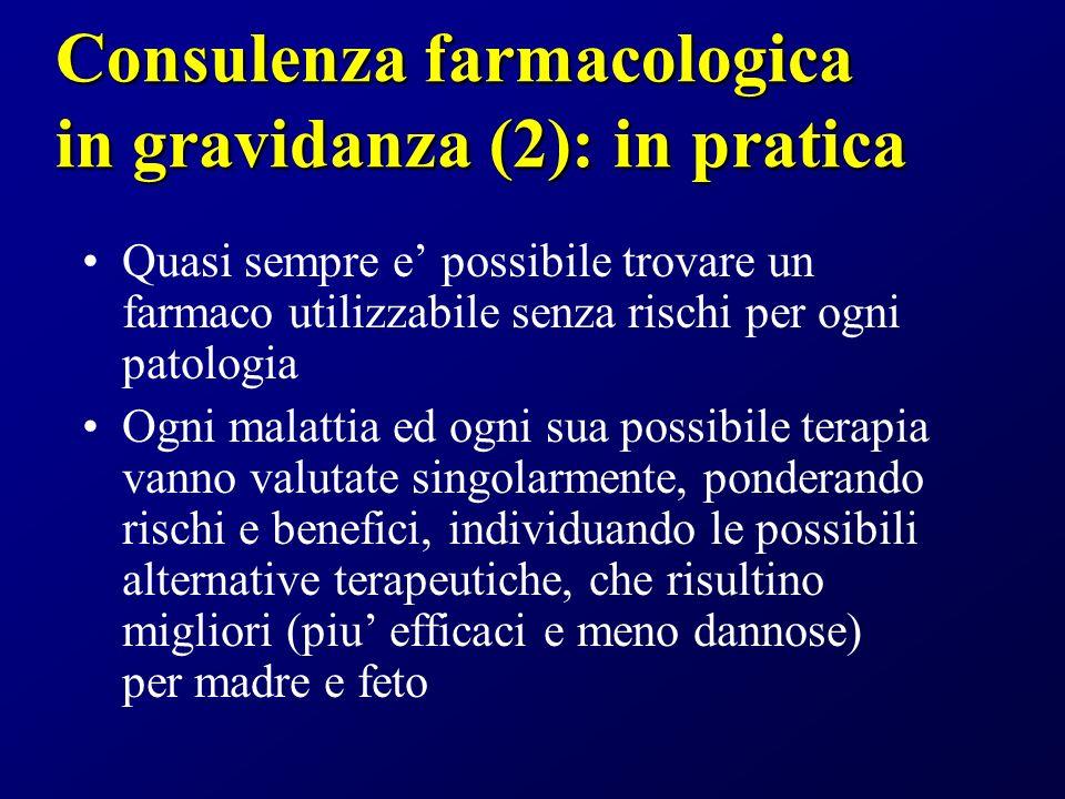 Consulenza farmacologica in gravidanza (2): in pratica