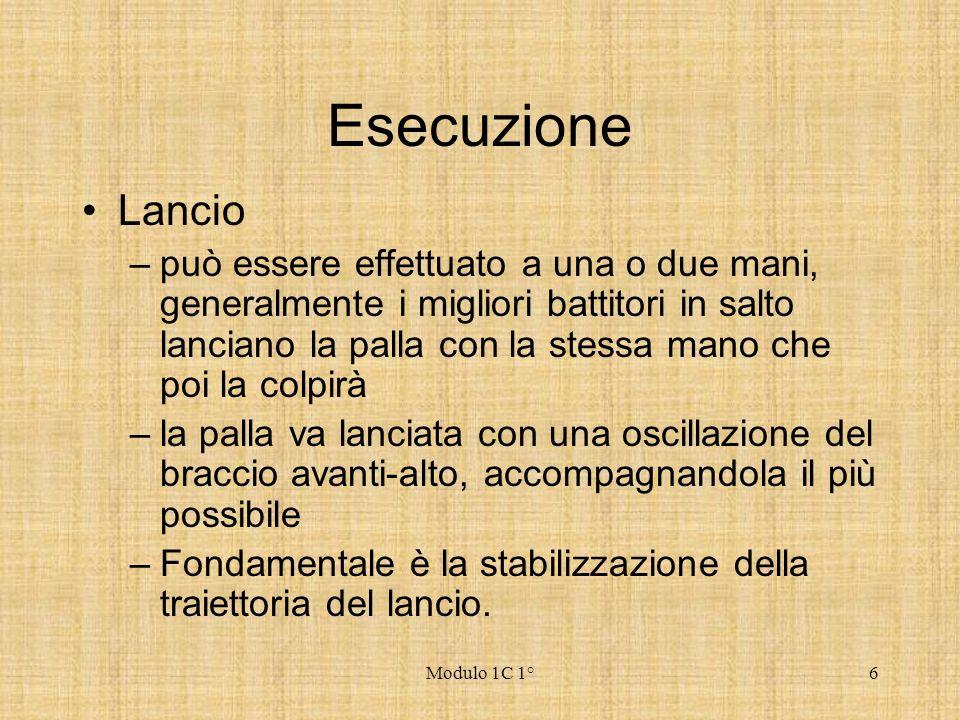 Esecuzione Lancio.