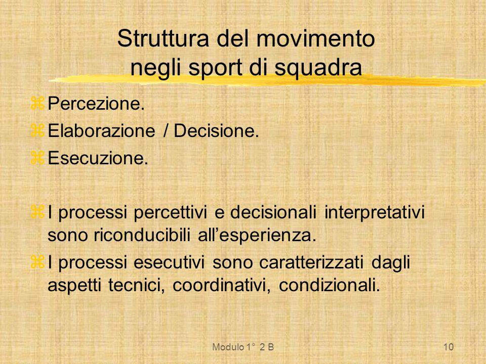 Struttura del movimento negli sport di squadra