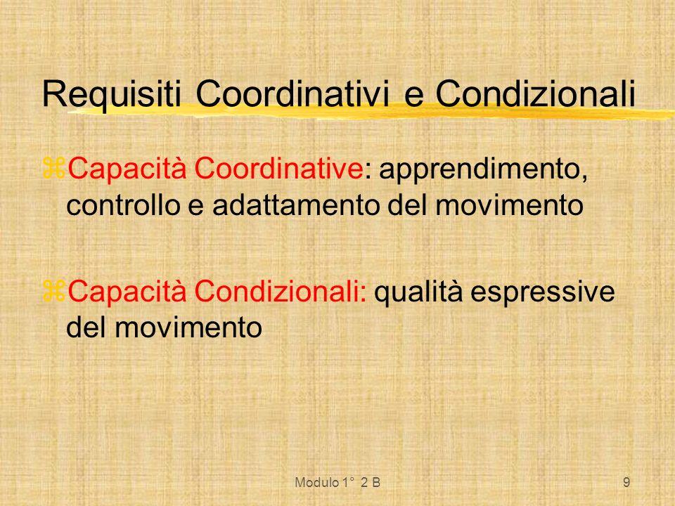 Requisiti Coordinativi e Condizionali