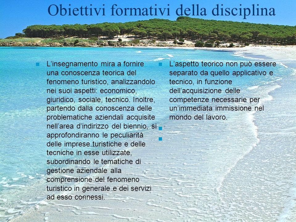 Obiettivi formativi della disciplina