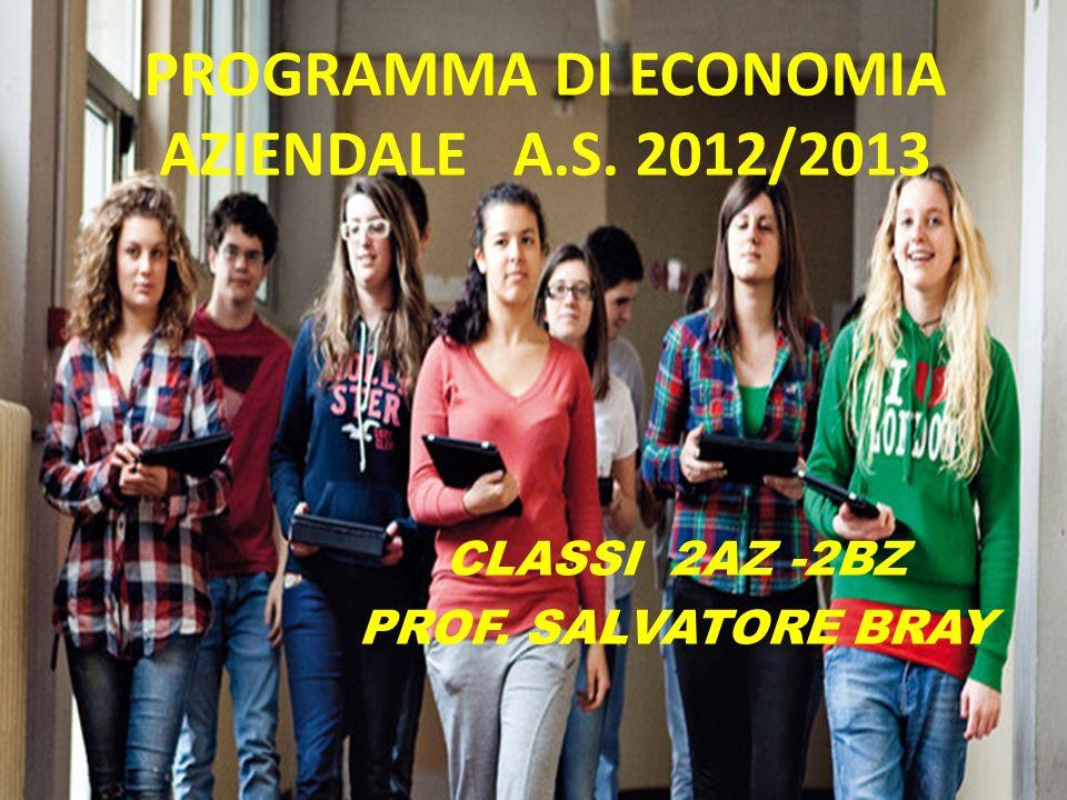 PROGRAMMA DI ECONOMIA AZIENDALE A.S. 2012/2013