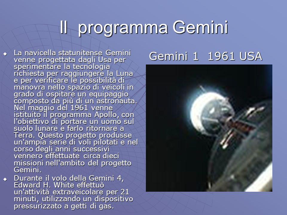 Il programma Gemini Gemini 1 1961 USA
