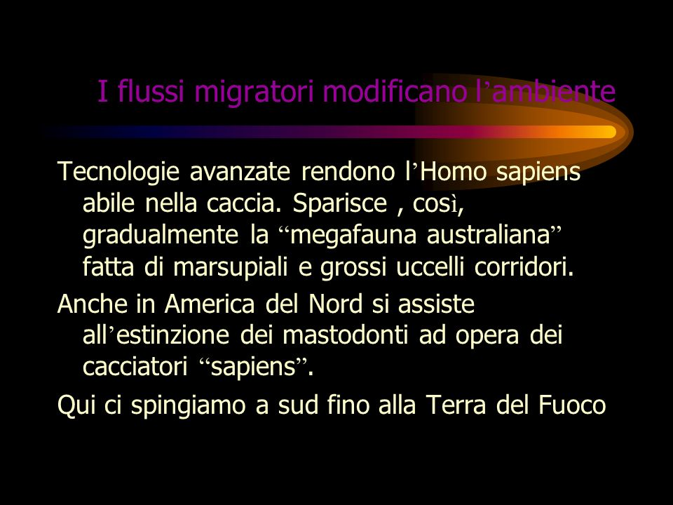 I flussi migratori modificano l'ambiente
