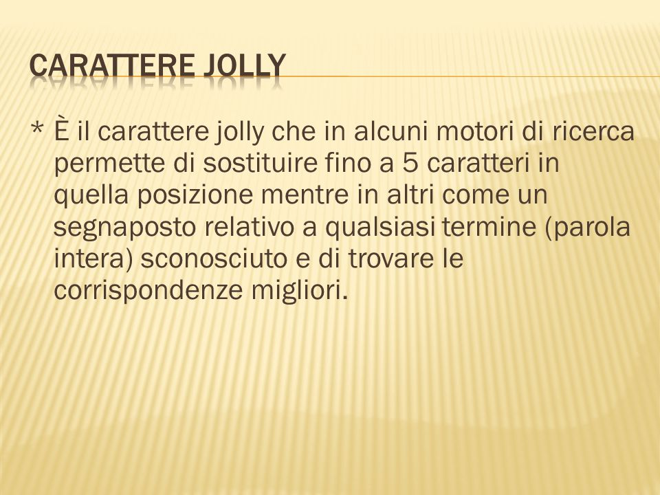Carattere Jolly