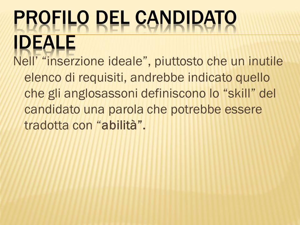 profilo del candidato ideale