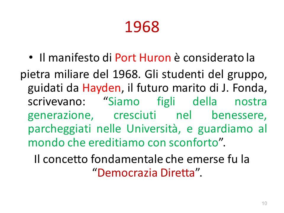 1968 Il manifesto di Port Huron è considerato la