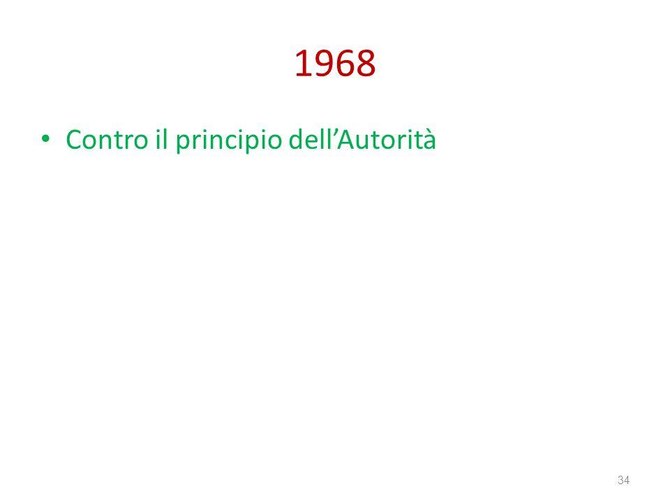 1968 Contro il principio dell'Autorità