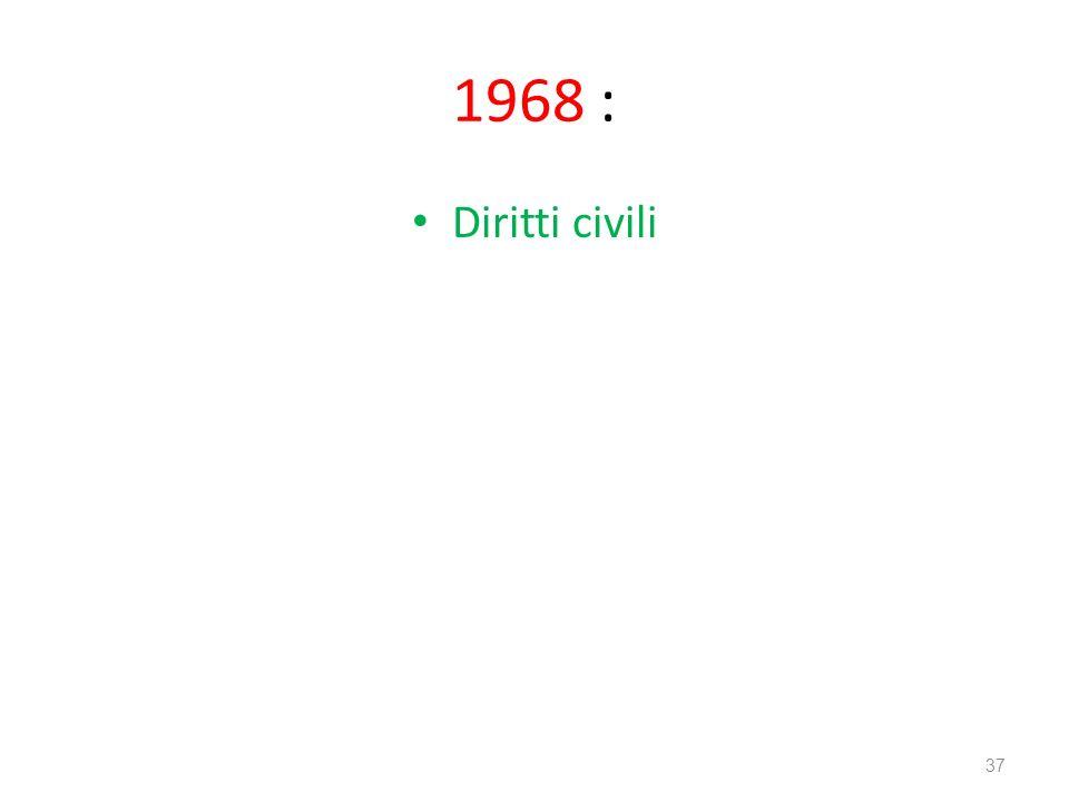 1968 : Diritti civili