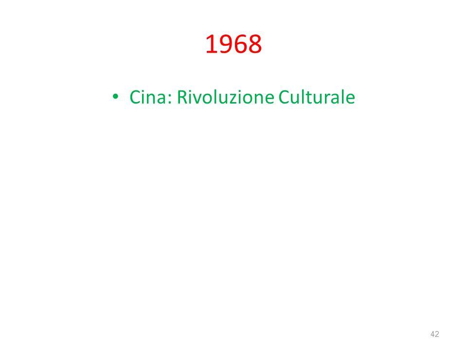 Cina: Rivoluzione Culturale