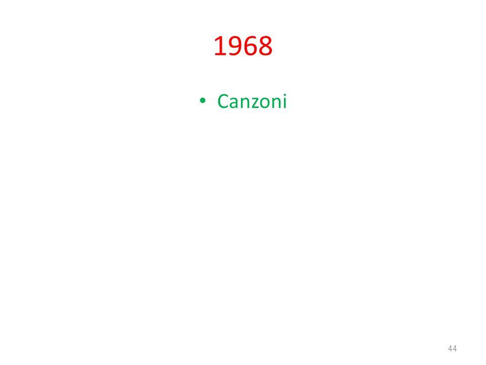 1968 Canzoni