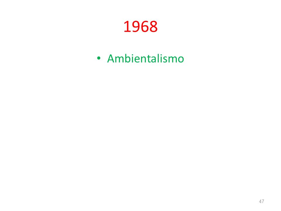1968 Ambientalismo