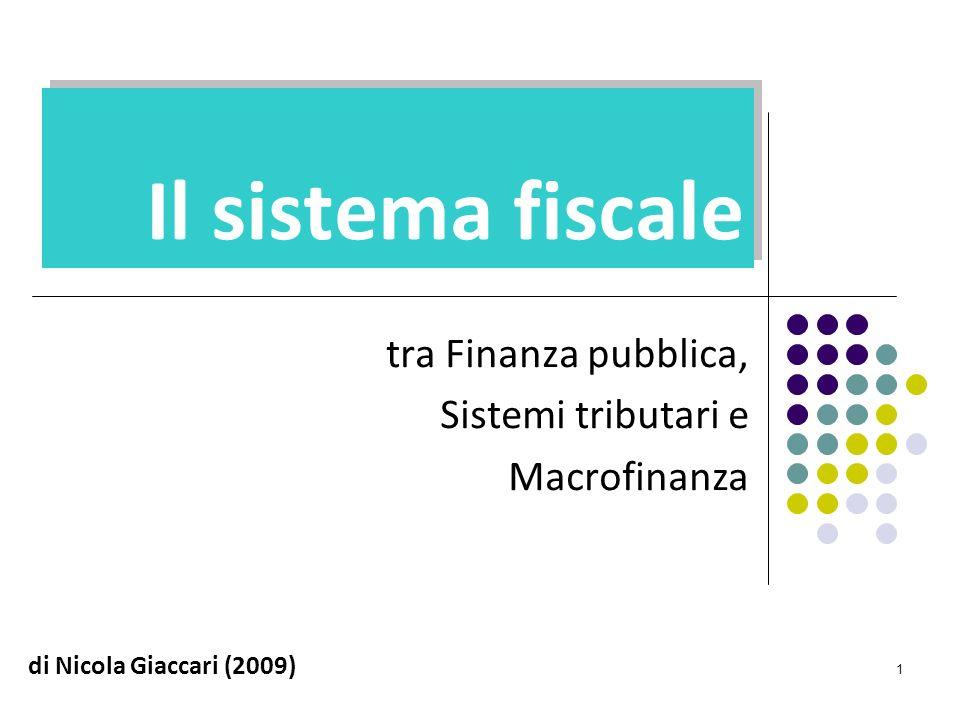 tra Finanza pubblica, Sistemi tributari e Macrofinanza