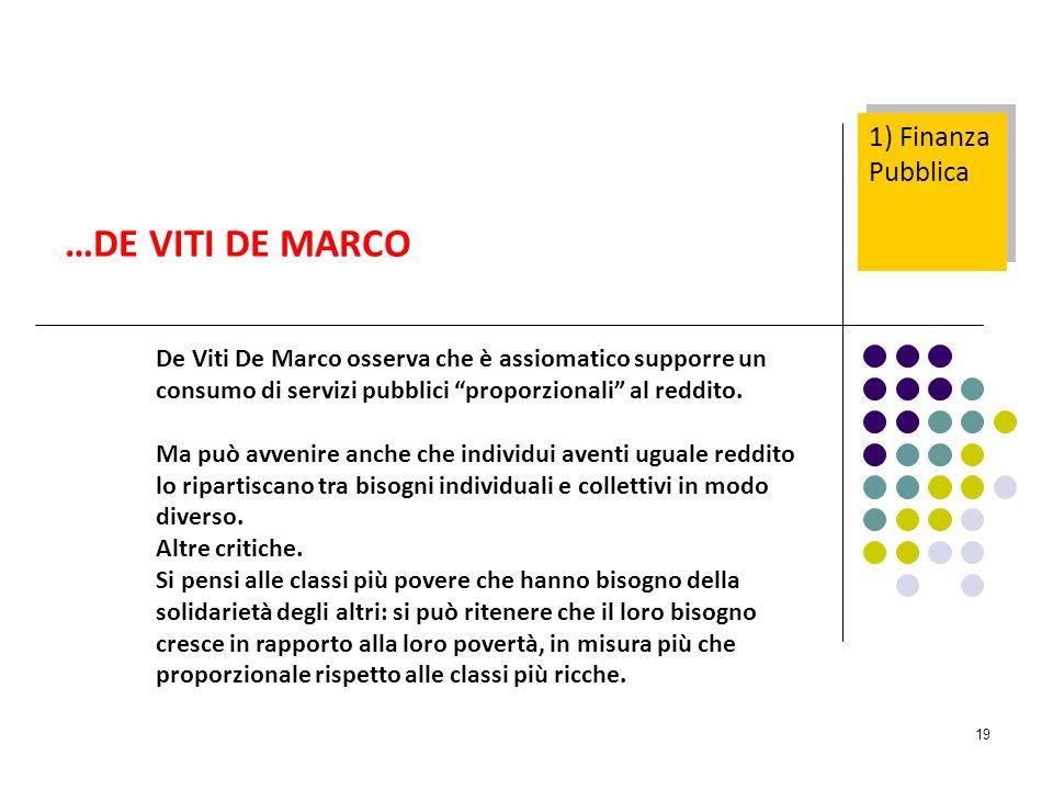 …DE VITI DE MARCO 1) Finanza Pubblica