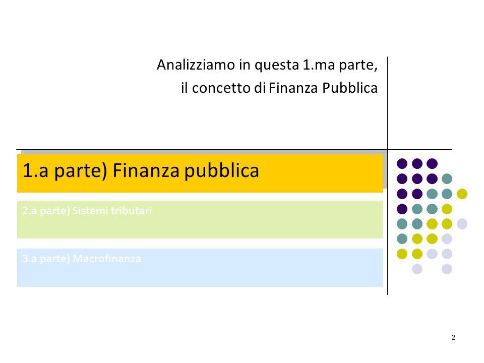 1.a parte) Finanza pubblica