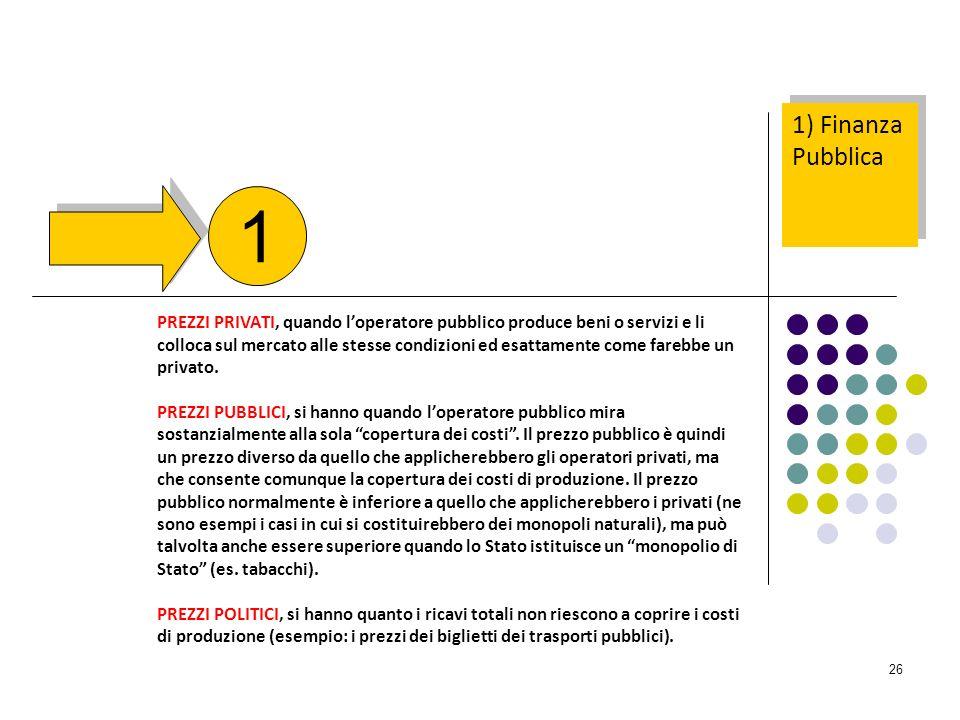 1) Finanza Pubblica 1.