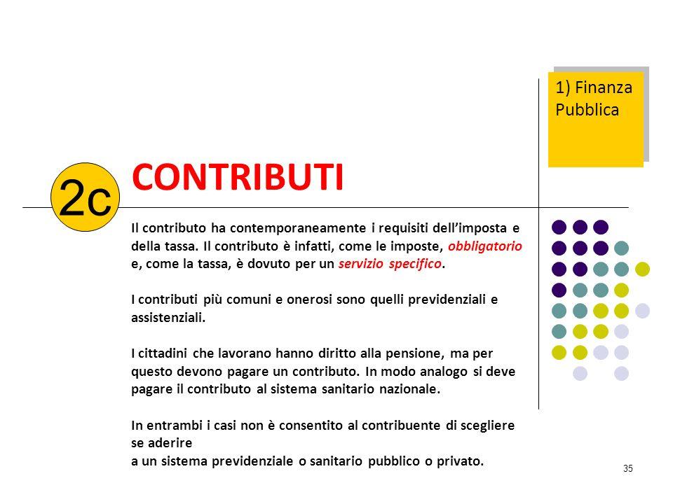 2c CONTRIBUTI 1) Finanza Pubblica