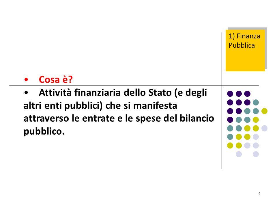 1) Finanza Pubblica Cosa è