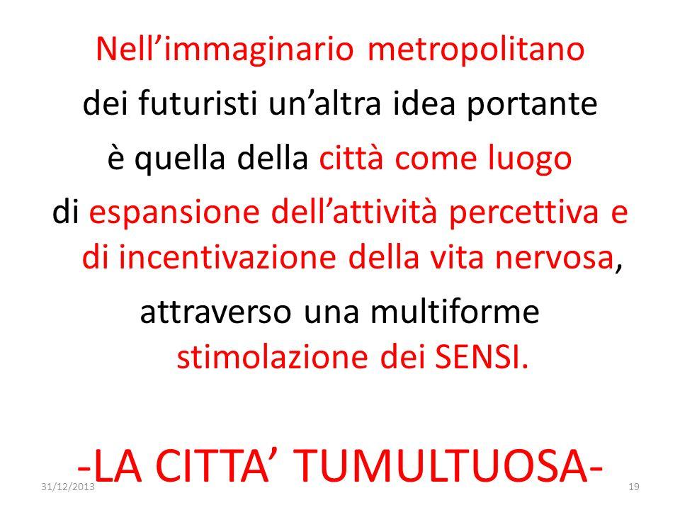 -LA CITTA' TUMULTUOSA-
