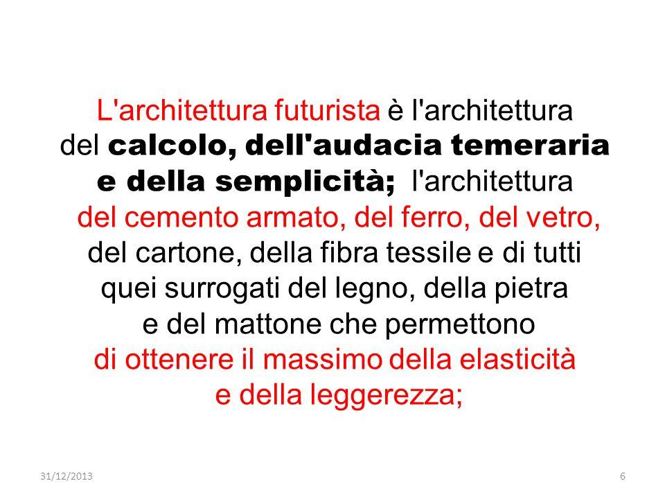 L architettura futurista è l architettura