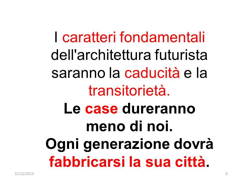 Ogni generazione dovrà fabbricarsi la sua città.