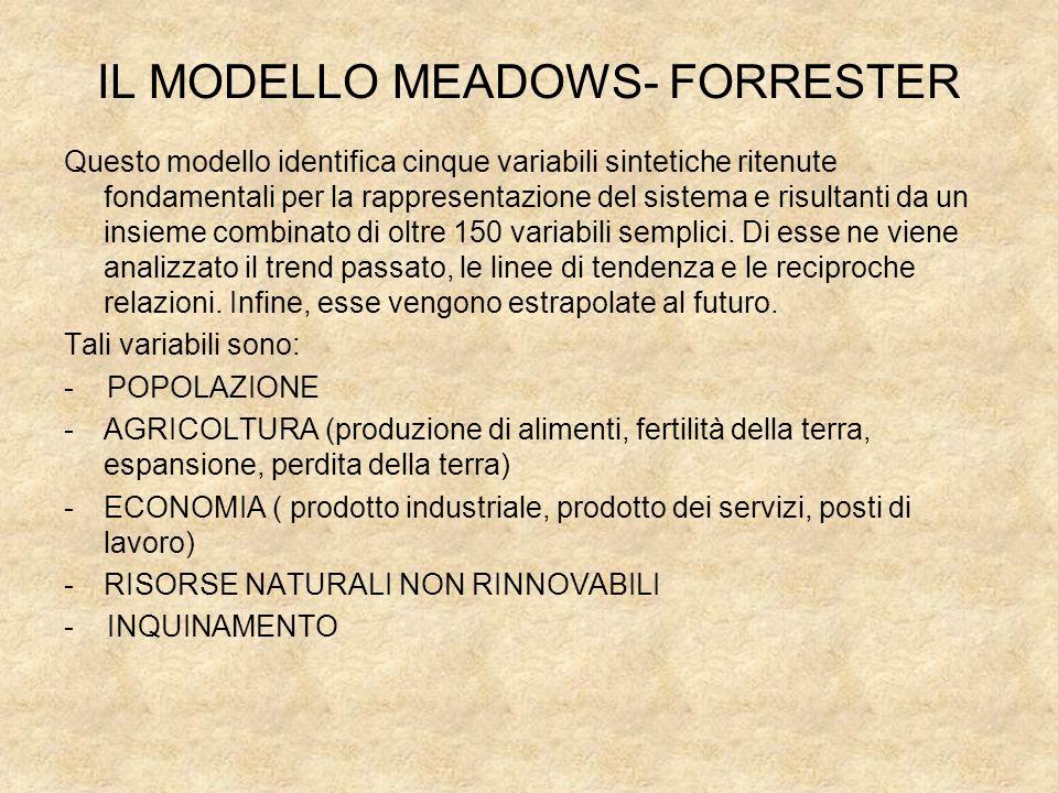 IL MODELLO MEADOWS- FORRESTER