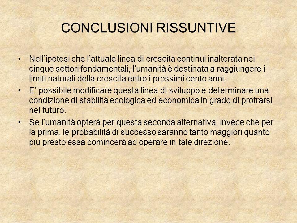 CONCLUSIONI RISSUNTIVE