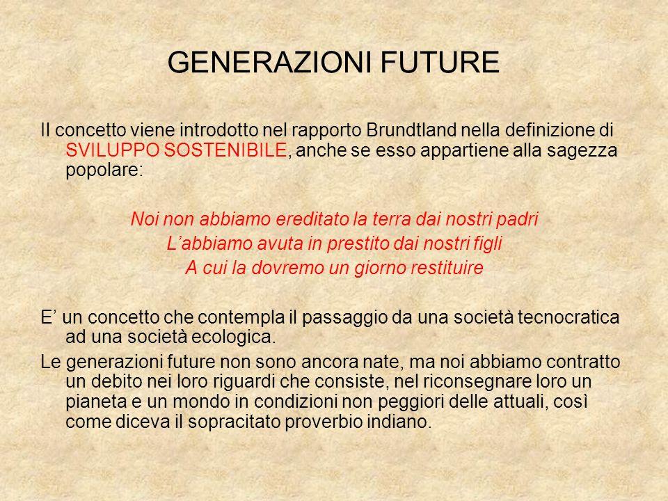 GENERAZIONI FUTURE
