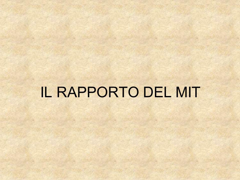 IL RAPPORTO DEL MIT