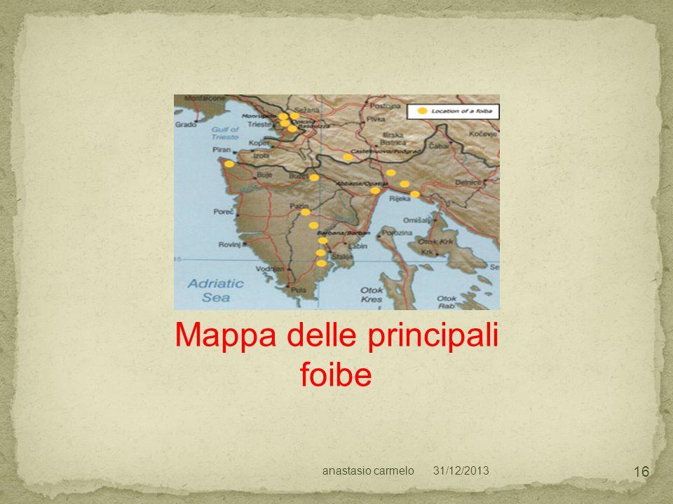 Mappa delle principali foibe