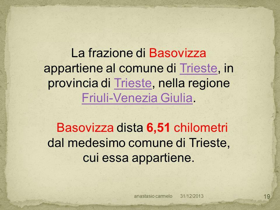 La frazione di Basovizza appartiene al comune di Trieste, in provincia di Trieste, nella regione Friuli-Venezia Giulia.