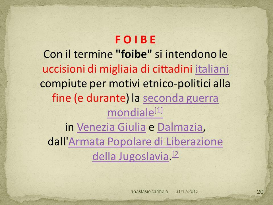 in Venezia Giulia e Dalmazia,